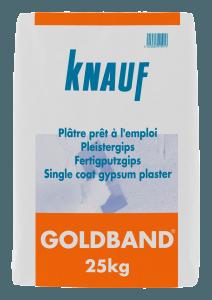 Plâtre à enduire Goldband - mortiers, colles, enduits, bandes - Home Pratik