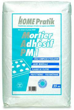 Mortier adhésif PM 1 - mortiers, colles, enduits, bandes - Home Pratik