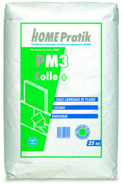 Colle carreaux de plâtre PM 3 - mortiers, colles, enduits, bandes - Home Pratik