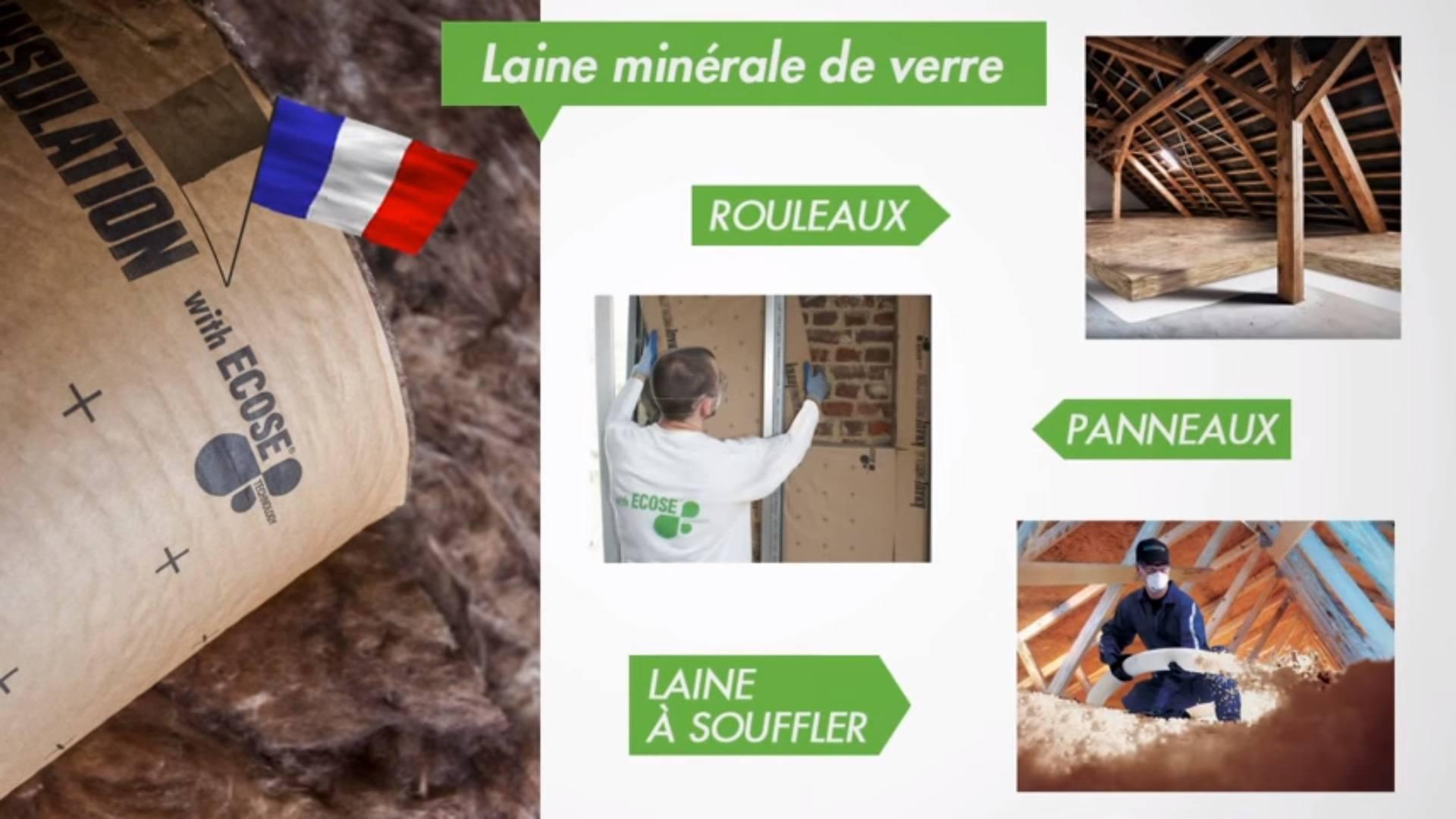 Panneau en laine de verre minérale Ecose