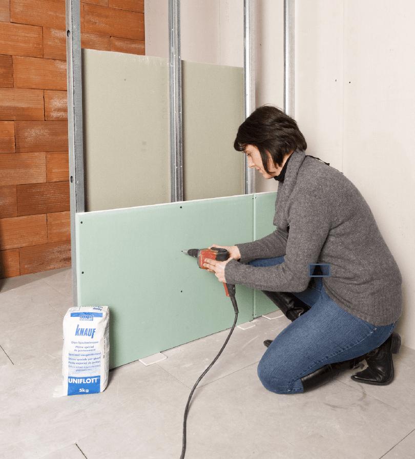 utilisation plaque de plâtre TOP pour la rénovation de sa maison