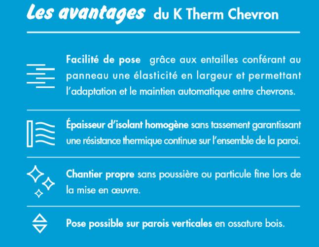 Les avantages du K Therm Chevron