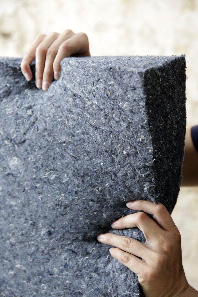 Cotonwool Flex 25 ® - panneau isolant biosourcé laine de coton recyclé - Home Pratik
